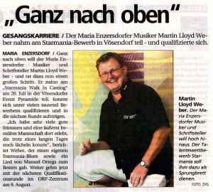 Presse: Weber Martin & Starmania